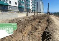 Продолжаются работы по созданию подпорных сооружений подъездной дороги к ЖК «Семейный» в Алуште