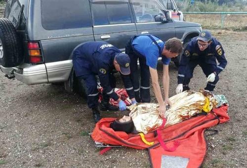 При взрыве газового баллона на горе Демерджи пострадала туристка