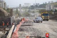 Подъездная дорога в Алуште готова на 70 %