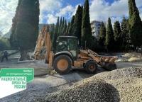 Продолжается II этап работ по благоустройству территории Симеизского парка