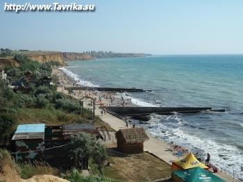 Пляж в поселке Андреевка