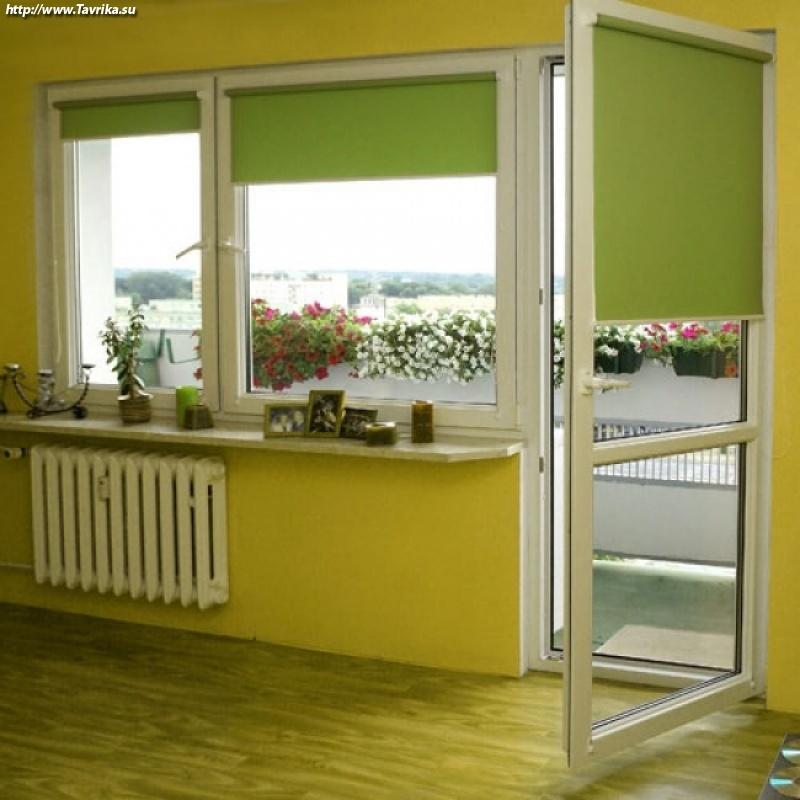 Рулонные жалюзи на пластиковые окна - особенности продукта и.