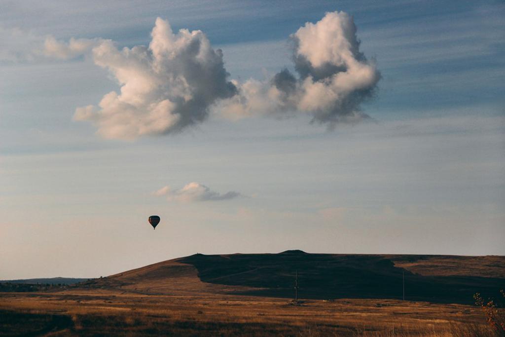 Вид на облака с белой горы