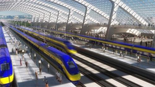 В Калифорнии начали постройку высокоскоростной железной дороги