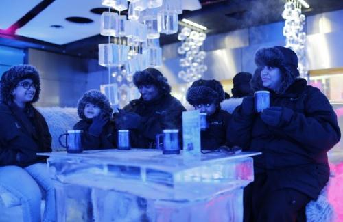 В Дубае в 35-градусную жару работает кафе изо льда