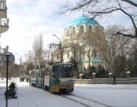 В Евпатории изменился график движения трамваев