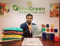 Индийская компания производит полностью биоразлагаемые съедобные «пластиковые» пакеты