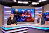 Начальник вневедомственной охраны Росгвардии по Республике Крым принял участие в программе «Гость в студии» на телеканале «Первый Крымский»