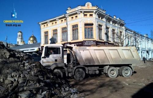 Въезд в отремонтированный центр Симферополя разрешат по пропускам