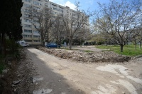 В Севастополе начался ремонт дворов