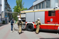 В Управлении вневедомственной охраны Росгвардии по Республике Крым проведена учебная тренировка по отработке действий в случае возникновения пожара в административном здании