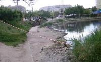 На севастопольском пляже Омега началась «зачистка»