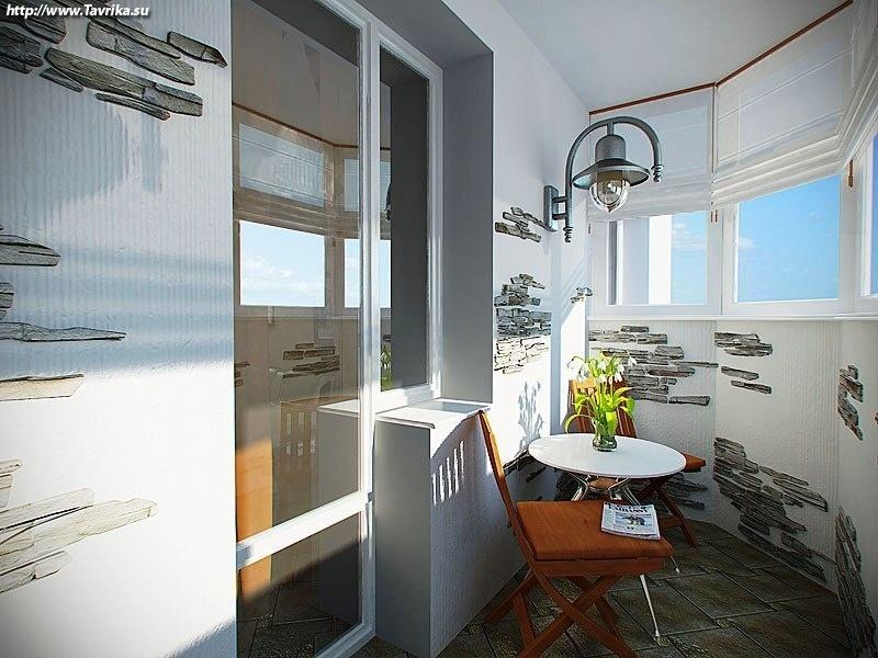 Объединение балкона с кухней + фото.